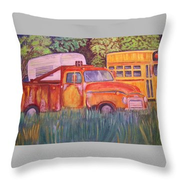 1954 Gmc Wrecker Truck Throw Pillow