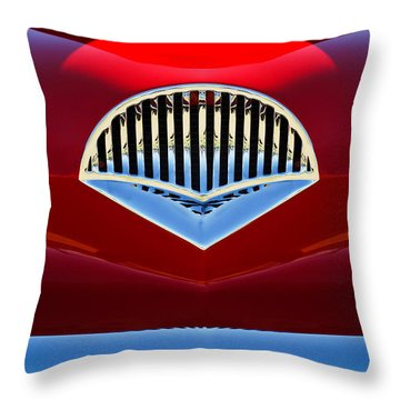 1954 Kaiser Darrin Grille Throw Pillow by Jill Reger