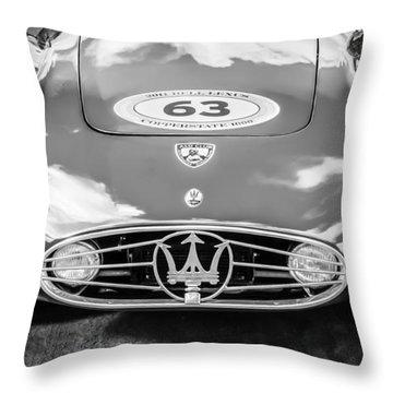 1954 Maserati A6 Gcs -0255bw Throw Pillow
