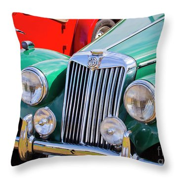 Throw Pillow featuring the photograph 1954 Mg Tf Sports Car by Chris Dutton
