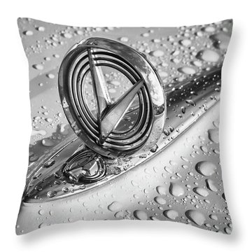 Throw Pillow featuring the photograph 1955 Buick Hood Ornament 2 by Dennis Hedberg