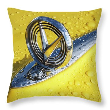 Throw Pillow featuring the photograph 1955 Buick Hood Ornament by Dennis Hedberg