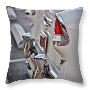 1955 Chevrolet Belair Tail Lights Throw Pillow by Jill Reger