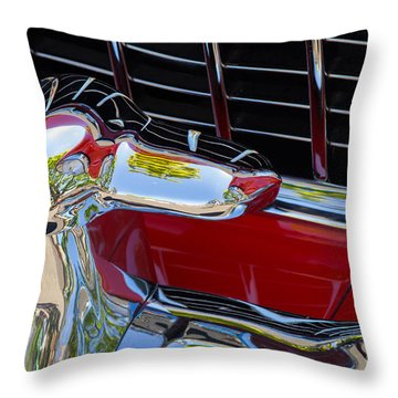 1955 Chevy Coupe Grill Throw Pillow