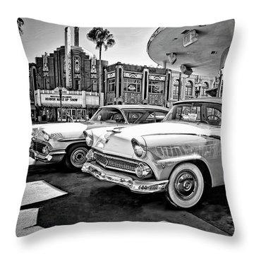 1955 Fairlane Crown Victoria Bw Throw Pillow