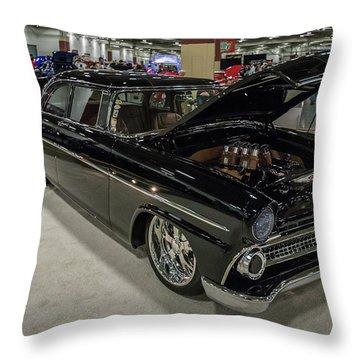 1955 Ford Customline Throw Pillow by Randy Scherkenbach
