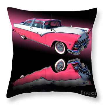 1955 Ford Fairlane Crown Victoria Throw Pillow