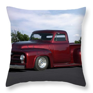 1955 Ford Pickup Throw Pillow