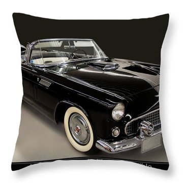 1955 Ford Thunderbird Convertible Throw Pillow
