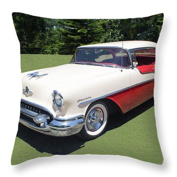 1955 Oldsmobile Super 88 Holiday Throw Pillow