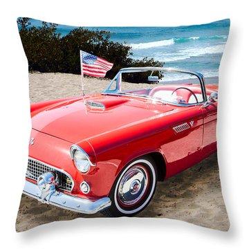 1955 Thunderbird Photograph Fine Art Prints 1246.02 Throw Pillow