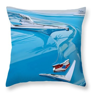 1956 Chevrolet Belair Nomad Hood Ornament Throw Pillow