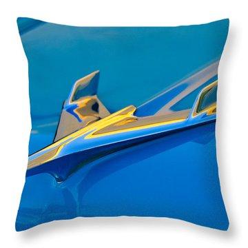 1956 Chevrolet Hood Ornament 2 Throw Pillow by Jill Reger