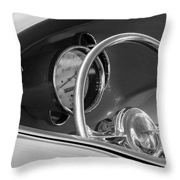 1956 Chrysler Hot Rod Steering Wheel Throw Pillow by Jill Reger