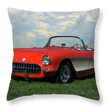 1956 Corvette Throw Pillow