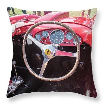 Throw Pillow featuring the photograph 1956 Ferrari 290mm - 4 by Randy Scherkenbach