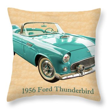 1956 Ford Thunderbird 5510.03 Throw Pillow