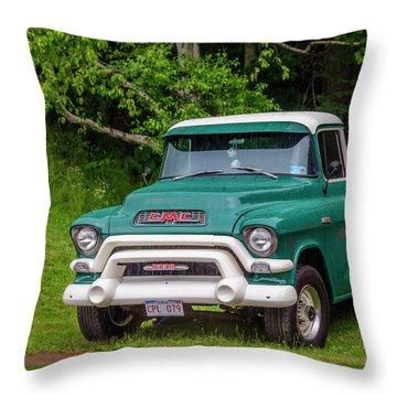 1956 Gmc Pickup Throw Pillow by Ken Morris