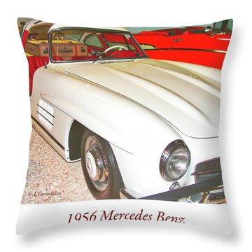 1956 Mercedes Benz Throw Pillow