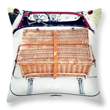 1956 Mga Roadster Throw Pillow