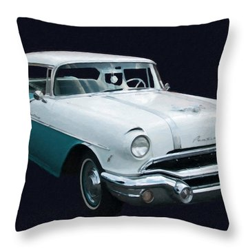 1956 Pontiac Star Chief Digital Oil Throw Pillow