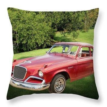 1956 Studebaker Power Hawk 5543.03 Throw Pillow