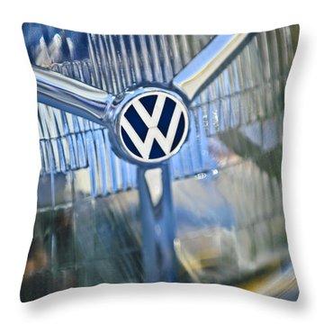 1956 Volkswagen Vw Bug Head Light Throw Pillow by Jill Reger