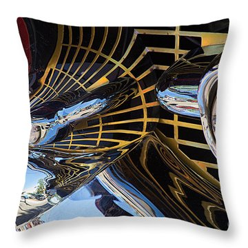 1957 Chevy Bel Air Grill Abstract 1 Throw Pillow