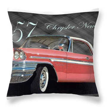 1957 Chrysler New Yorker Throw Pillow