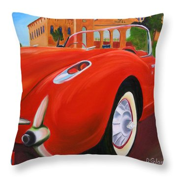 1957 Corvette Throw Pillow