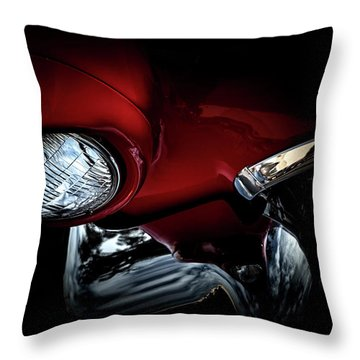 Throw Pillow featuring the photograph 1957 Ford Thunderbird, No.6 by Eric Christopher Jackson