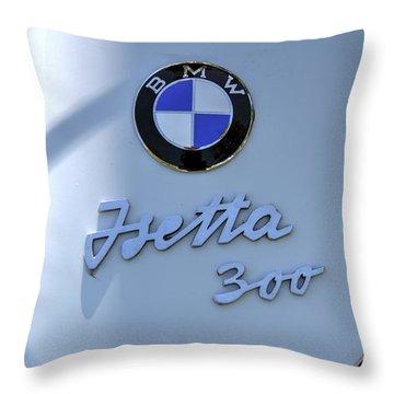 1957 Isetta 300 Hood Emblem Throw Pillow