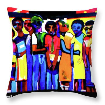 1957 Little Rock Nine Throw Pillow