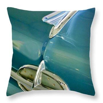 1957 Oldsmobile Hood Ornament 5 Throw Pillow by Jill Reger