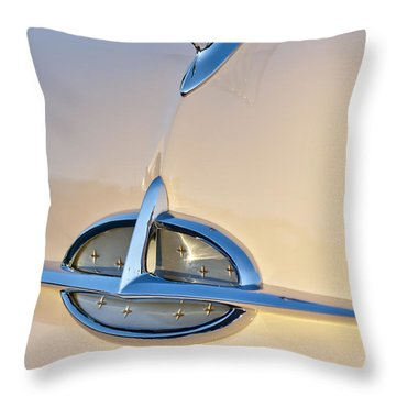 1957 Oldsmobile Hood Ornament 7 Throw Pillow by Jill Reger