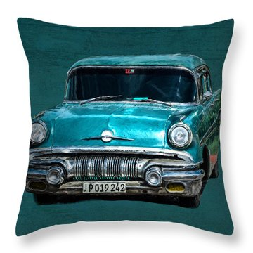 1957 Pontiac Bonneville Throw Pillow
