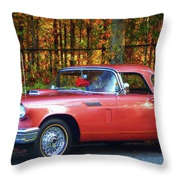 1957 Thunderbird  003 Throw Pillow