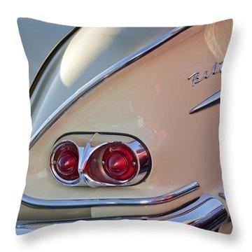 1958 Chevrolet Belair Taillight Throw Pillow