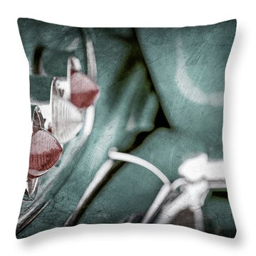 Throw Pillow featuring the photograph 1958 Chevrolet Impala Taillight -0544ac by Jill Reger