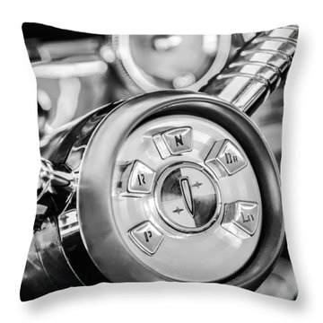 1958 Edsel Ranger Push Button Transmission 2 Throw Pillow by Jill Reger