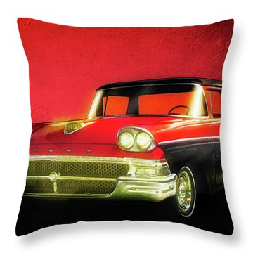 1958 Ford Ranchero 1st Generation Throw Pillow