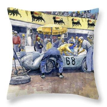 1958 Targa Florio Porsche 718 Rsk Behra Scarlatti 2 Place Throw Pillow by Yuriy Shevchuk