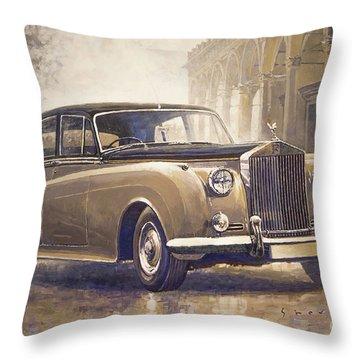 1959-62 Rolls-royce Silver Cloud II Throw Pillow