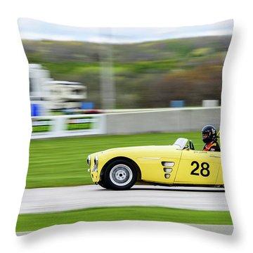 1959 Austin Healey 100/6 Throw Pillow
