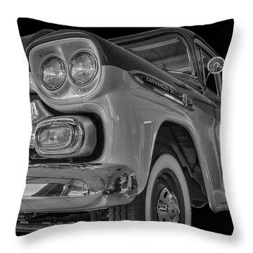 1959 Chevrolet Apache - Bw Throw Pillow