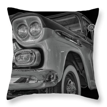 1959 Chevrolet Apache - Bw Throw Pillow