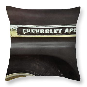 1959 Chevy Apache Throw Pillow