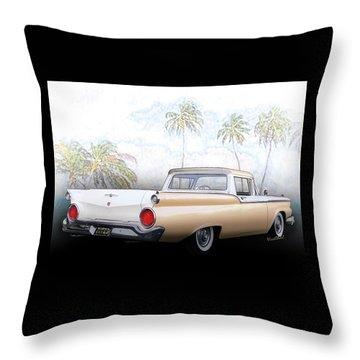 1959 Ford Ranchero 1st Generation Throw Pillow