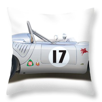 1959 Porsche Type 718 Rsk Spyder Throw Pillow
