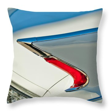 Throw Pillow featuring the photograph 1960 Cadillac Eldorado Biarritz Convertible Taillight by Jill Reger